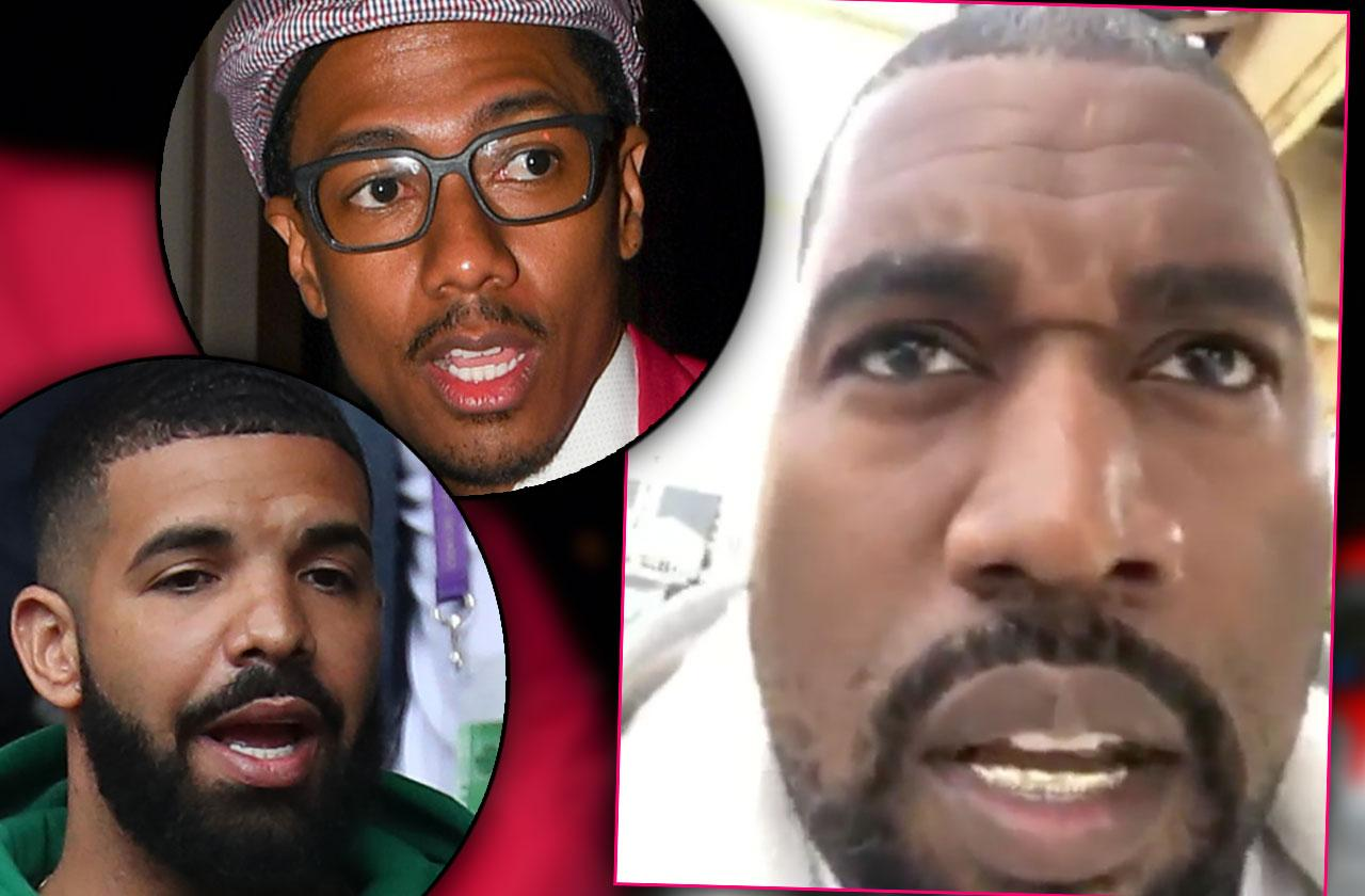 //Kanye West Slams Nick Cannon Drake Videos pp