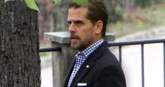 Robert Hunter Biden Wearing Blue and White Checkered Shirt Dark Blazer