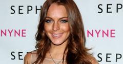 Lindsay Lohan looking too tan