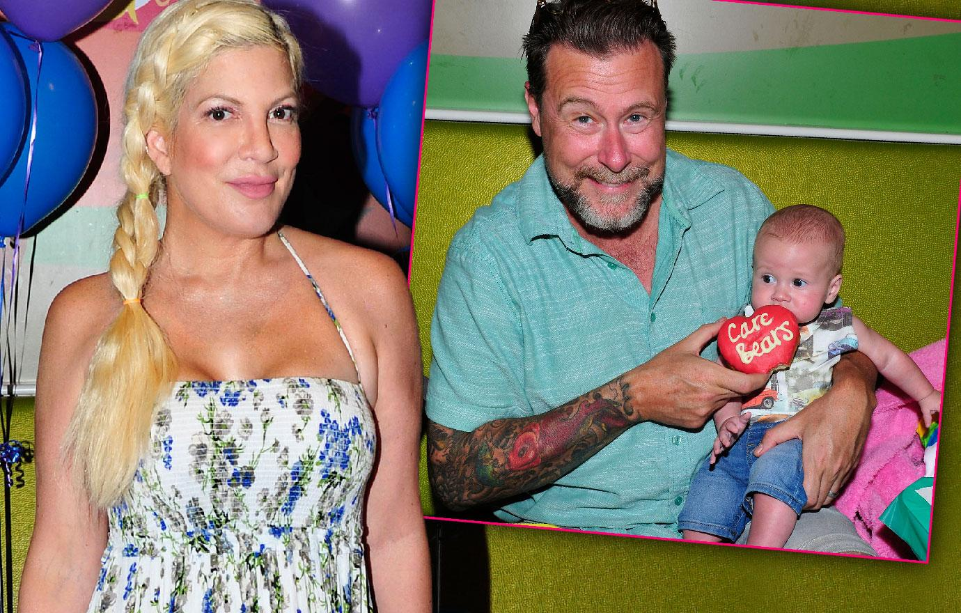 Tori Spelling Dean McDermott Attend Kids Event Financial Crisis