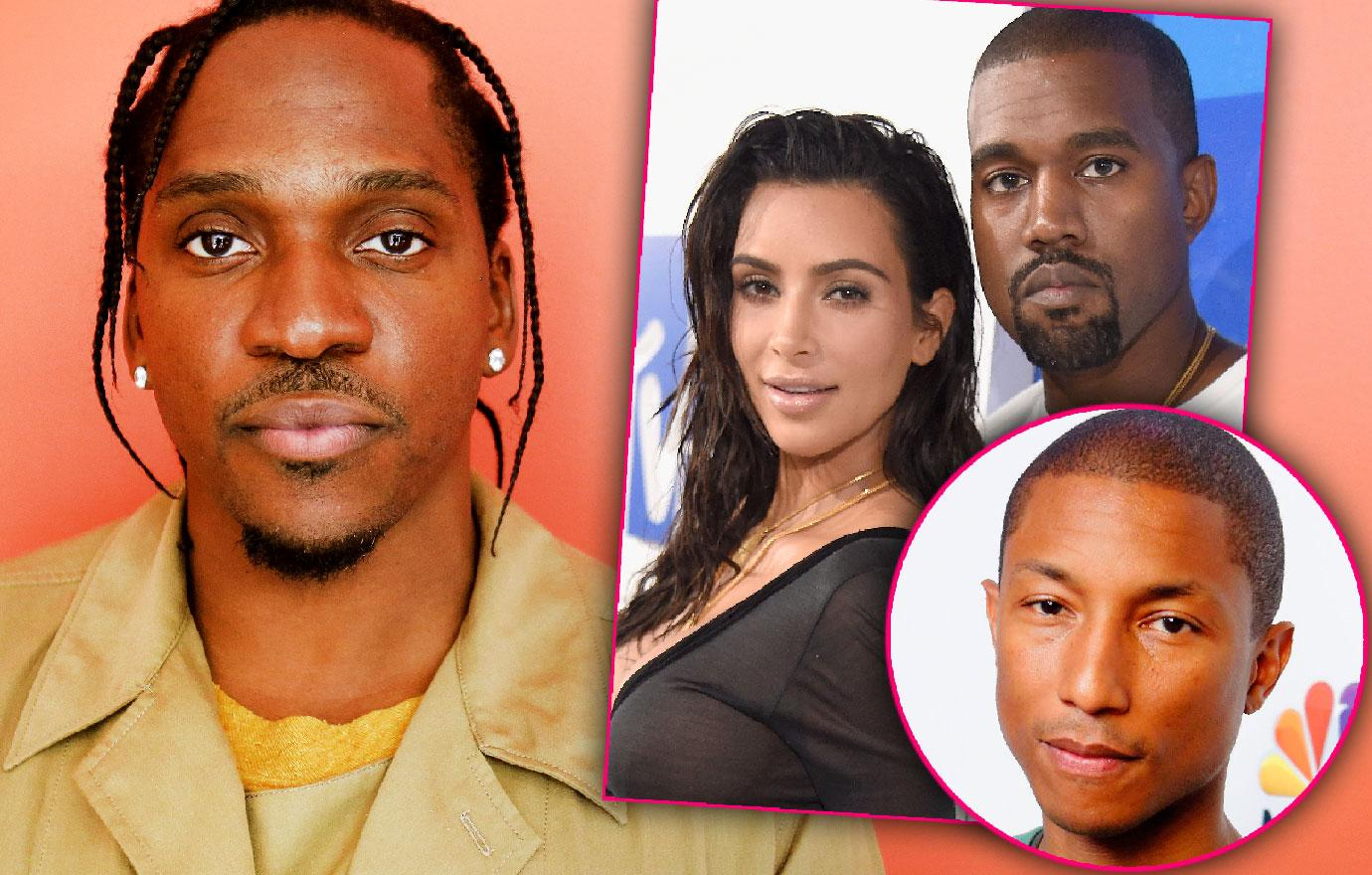 Kim Kardashian And Kanye West Attend Pusha T Wedding