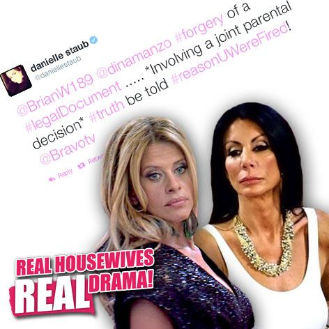 //danielle staub dina manzo forgery to get daughter on rhonj