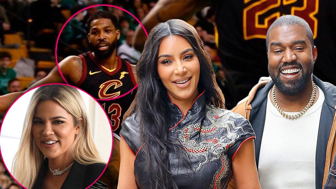 Kim & Kanye Sit Courtside At Tristan's NBA Game Amid Khloe Reconciliation Rumors
