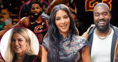 Kim & Kanye Sit Courtside At Tristan's NBA Game Amid Khloe Reconciliation Rumors