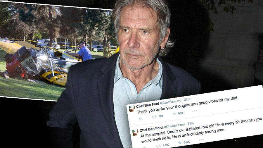 Harrison Ford Plane Crash Son Ben Hospital