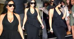 //kim kardashian pregnant dress cleavage