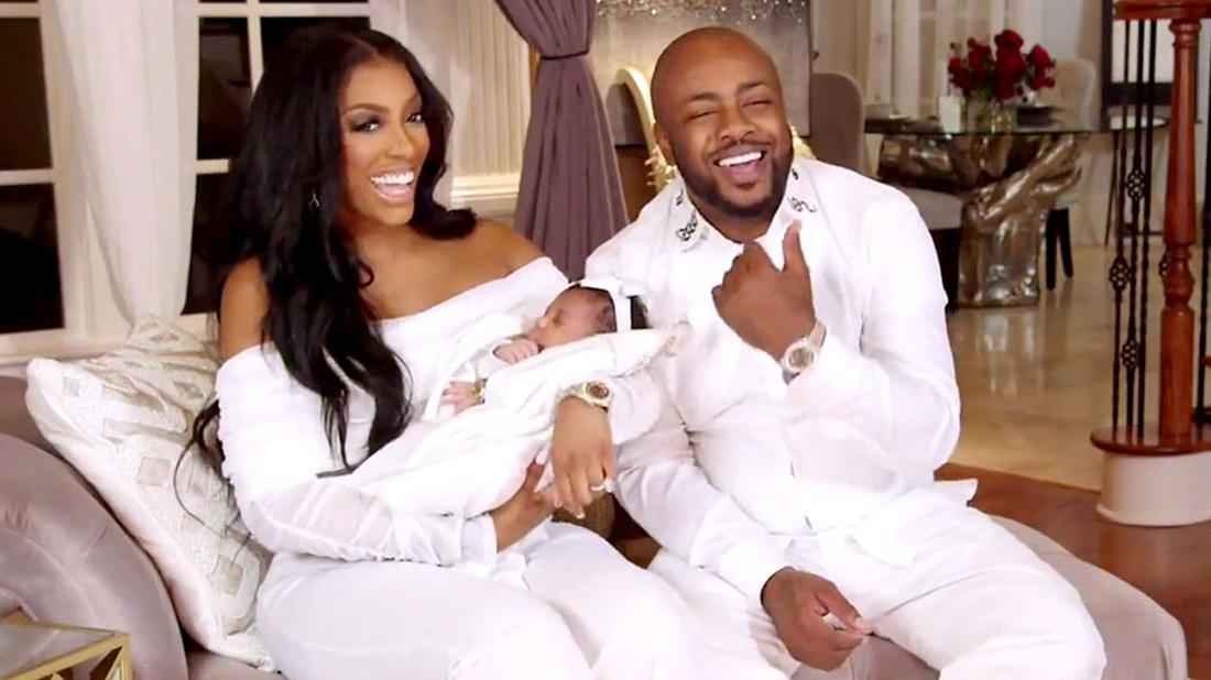 Porsha Williams and Dennis McKinley Sit Laughing with Baby Pilar