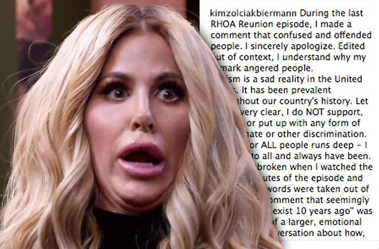 //Kim Zolciak Blames Editing Racist Comment pp
