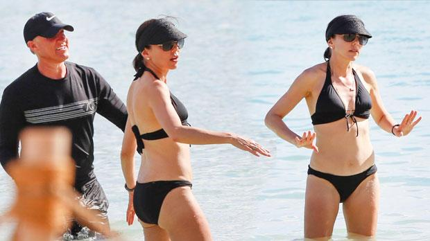 Heather Dubrow Shows Off Beach Body In Black Bikini Pics