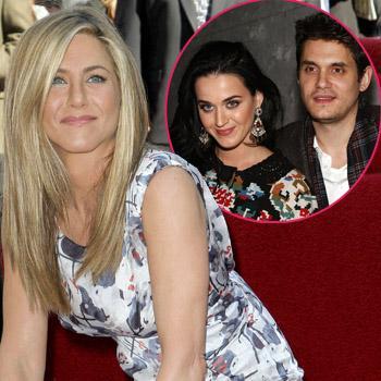 Jennifer Aniston peace John mayer Katy perry