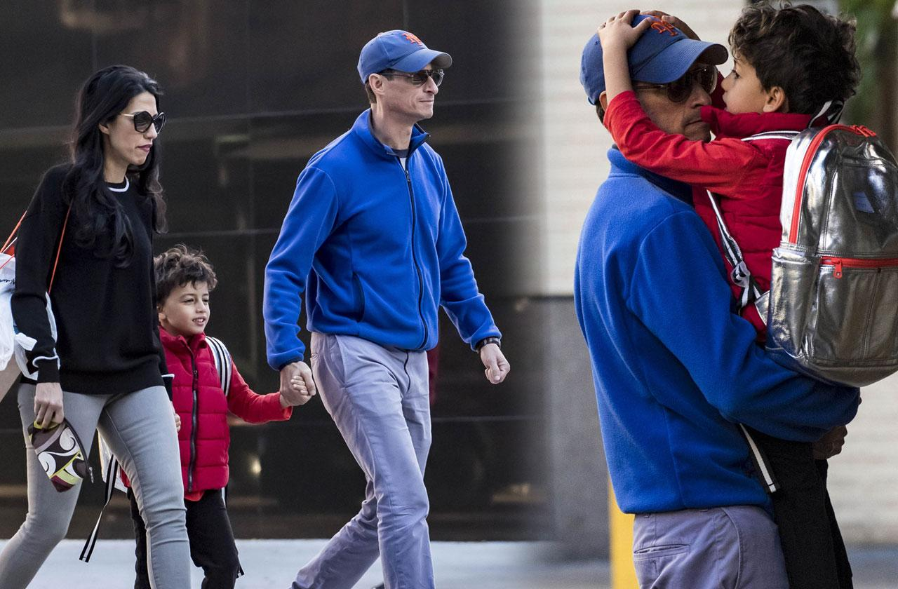 //Anthony Weiner with son before prison pp