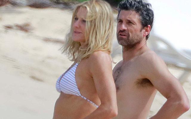 //patrick dempsey shirtless wife bikini divorce called off