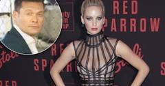 //Jennifer Lawrence Not Speak Ryan Seacrest Oscars pp