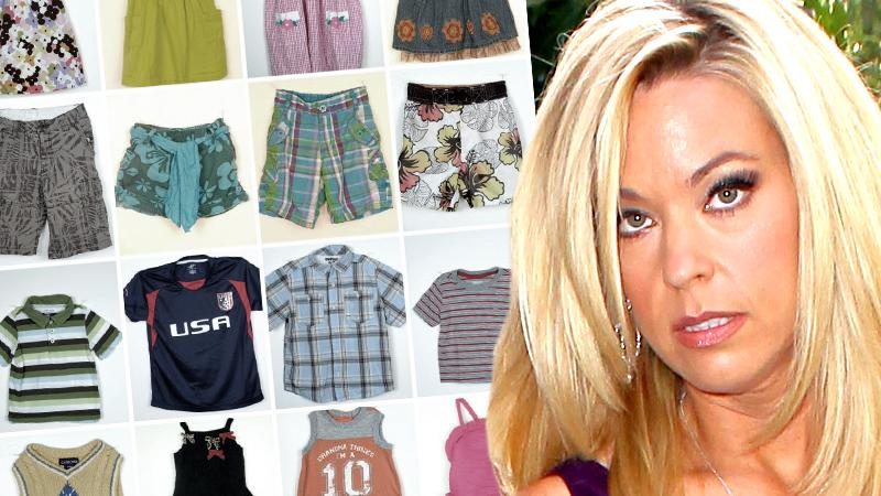 //kate gosselin sold kids clothes consignment money instead donating them pp sl