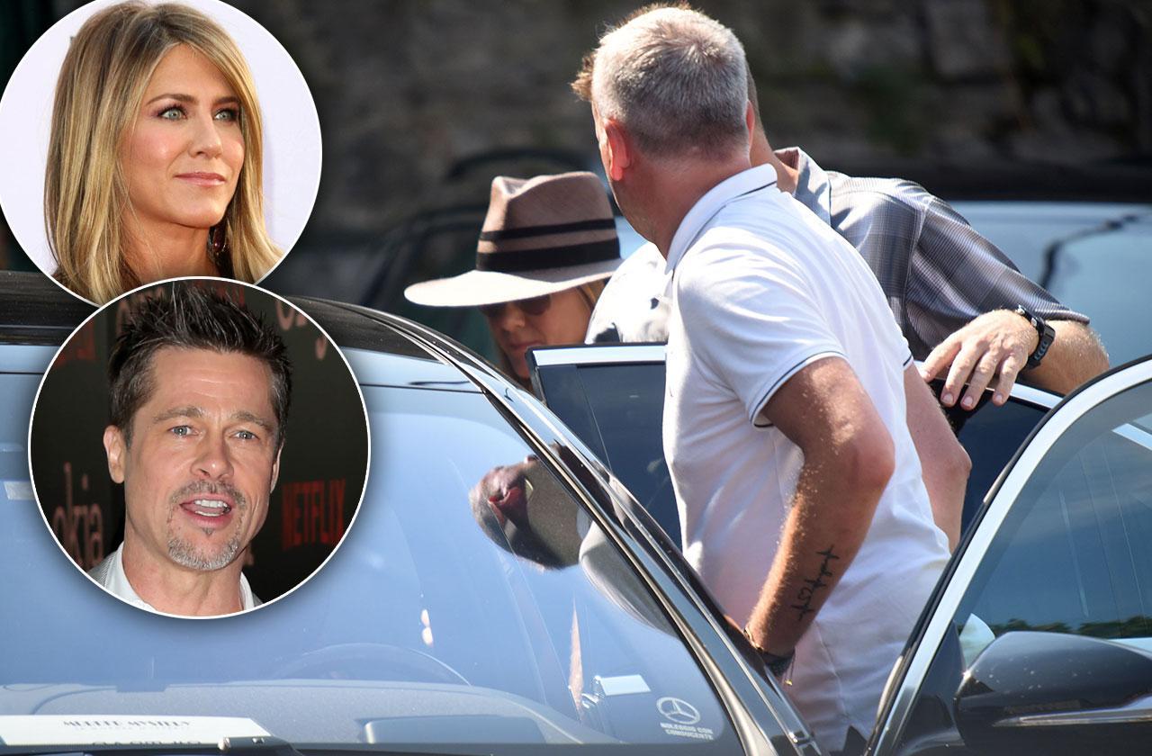 Jennifer Aniston Leaves Clooney House Brad Pitt