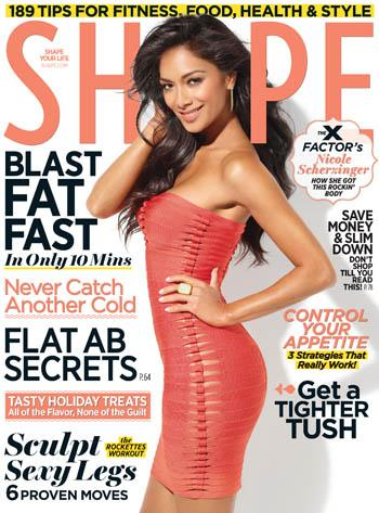 //nicole scherzinger shape weight diet