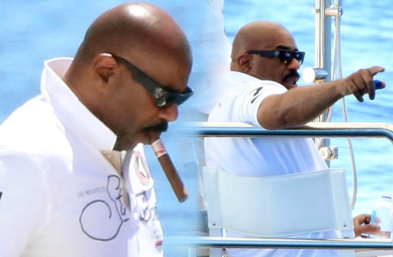Steve Harvey Scandal Career Fight Family Vacation Yacht