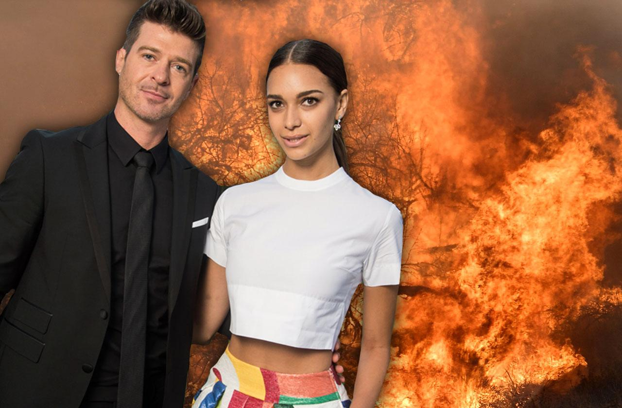 //robin thicke and april love gearys house burns down wildfires pp