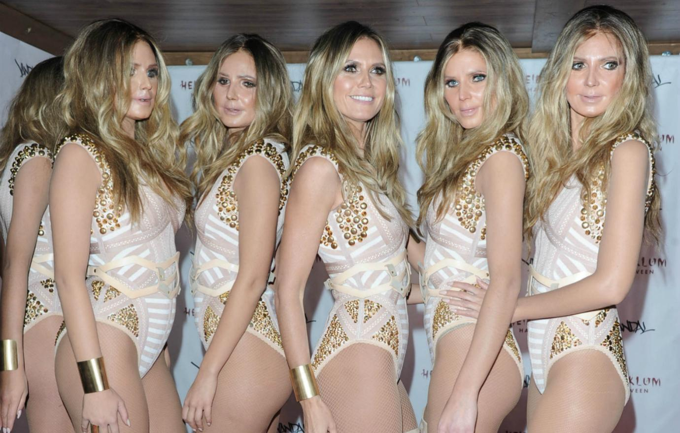 Heidi Klum and the Klum Clones at her annual Halloween bash.