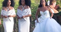//diana ross at daughters wedding with kids pp