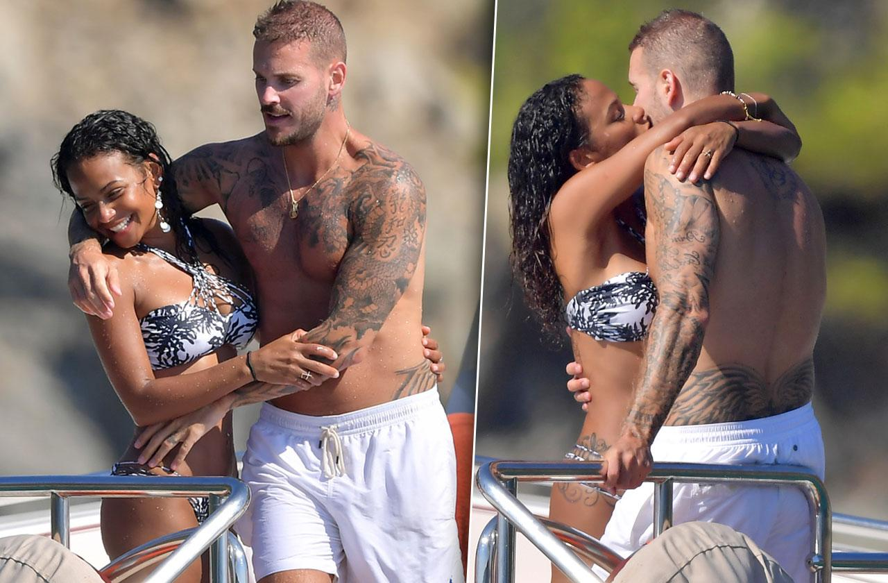 Christina Milian Bikini Boyfriend PDA