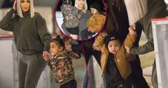 Kim Kardashian Helps Son Saint Ice Skate