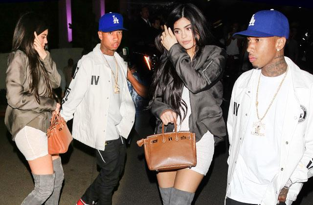 Kylie Jenner & Tyga Together At Kanye's 'Famous' Music Video Premiere