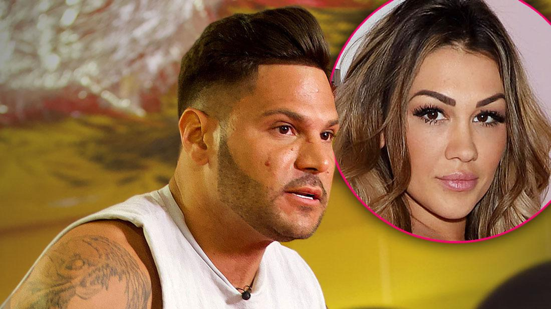 Angry Ronnie Ortiz-Magro Looking Right, Inset Jen Harley