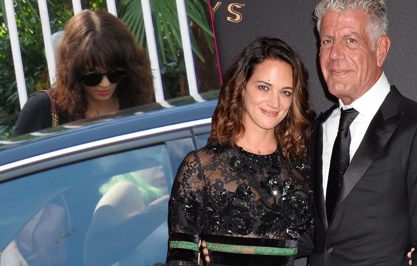 Asia Argento Leaves Rome For Anthony Bourdain Funeral