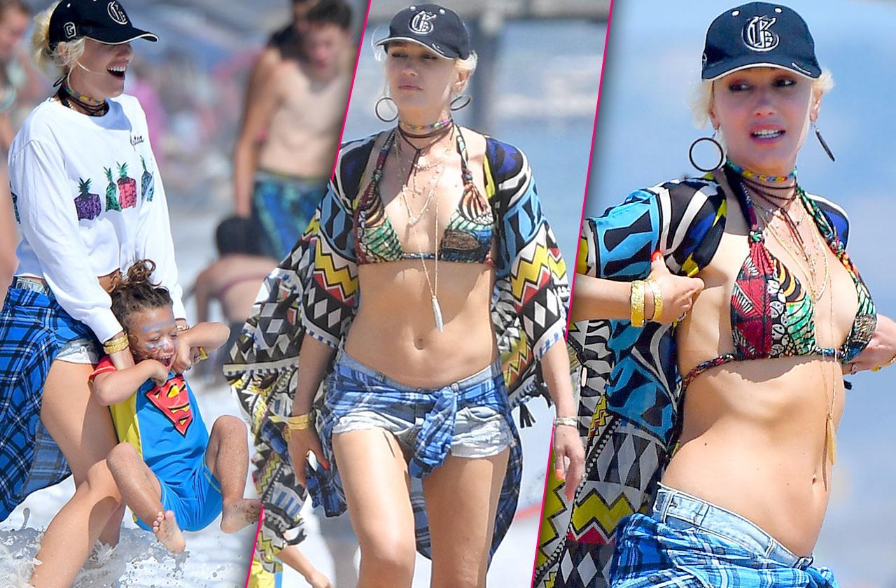 Gwen Stefani bikini beach pics