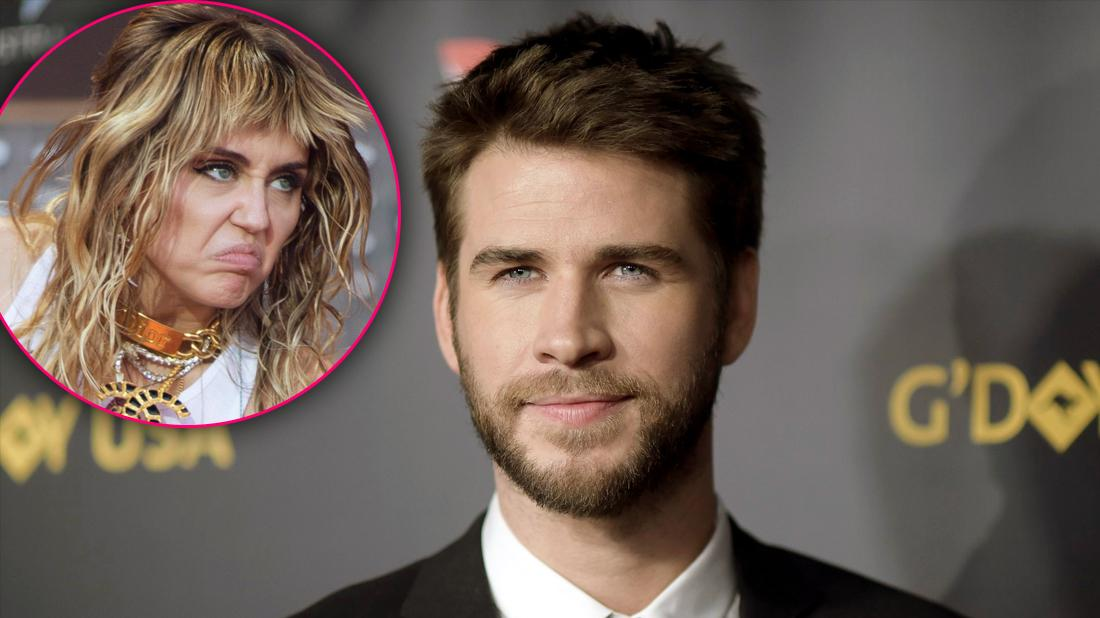 Liam Hemsworth Looking Independent and Confident Not Looking to Date Amid DIvorce with Inset of Crazed and Upset Miley Cyrus
