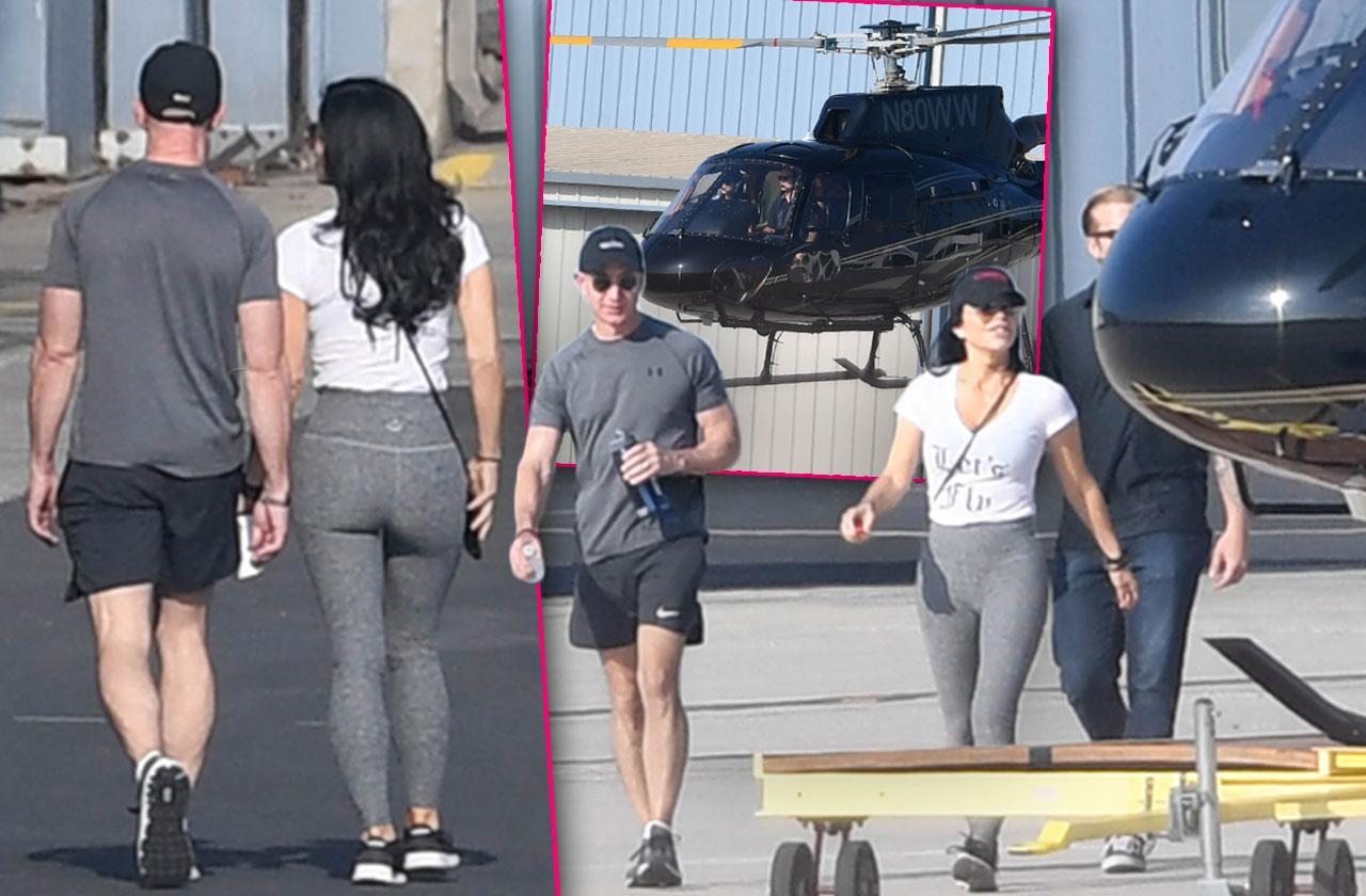 Jeff Bezos Lauren Sanchez Helicopter Ride
