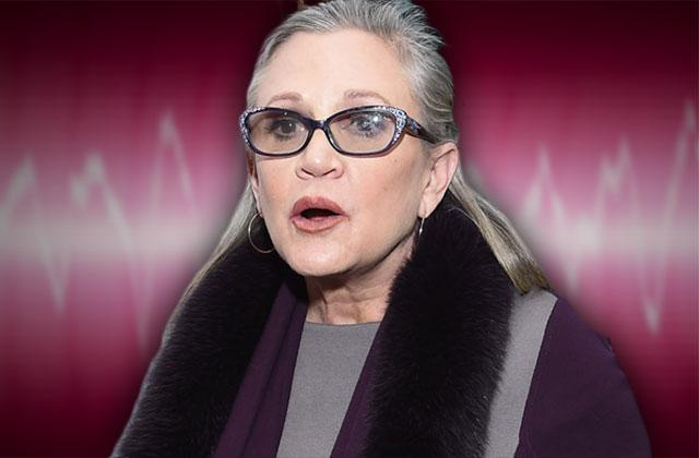 carrie fisher 911 call death heart attack