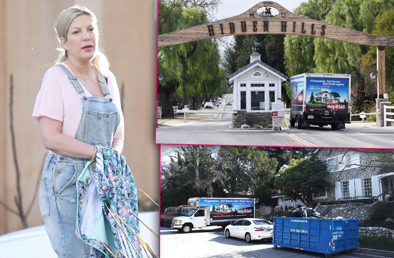 Tori Spelling Moving Truck Broke