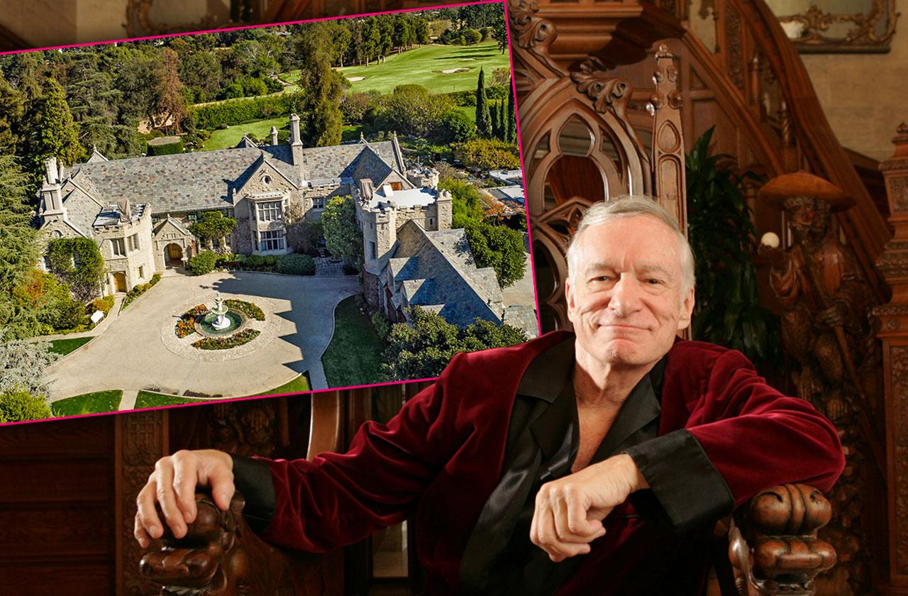 Playboy Mansion Hugh Hefner Died Photos