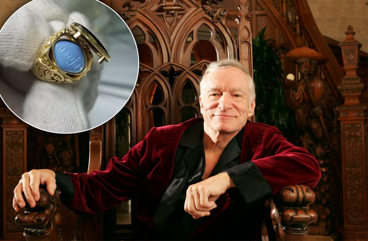 Hugh Hefner Gold Ring Viagra Sells Auction