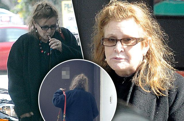 carrie fisher dead heart attack smoking los angeles