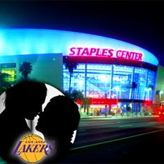//staples center busted sex vip bathroom lakers game sq