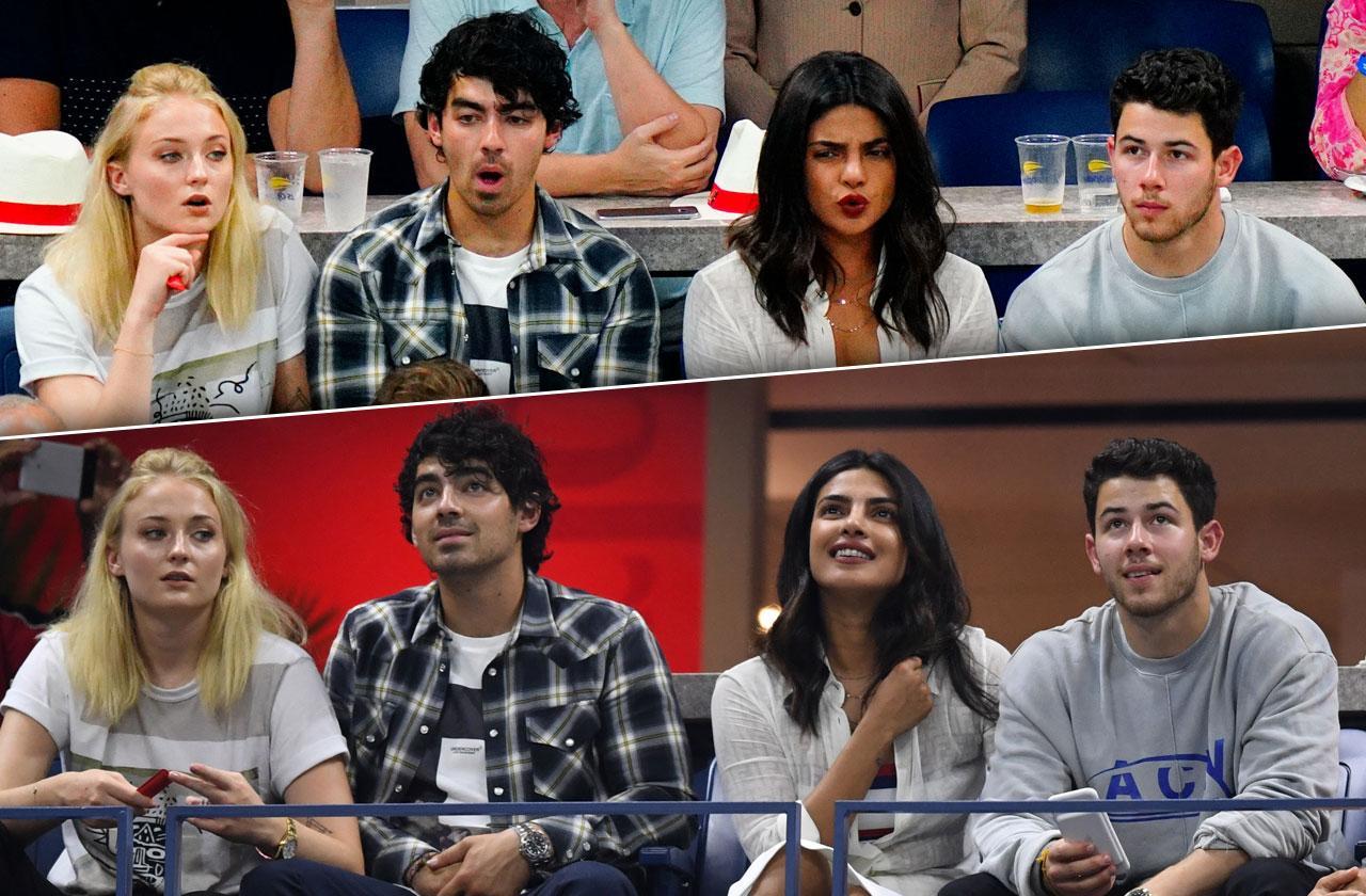 US Open Celebrities Priyanka Chopra Nick Jonas