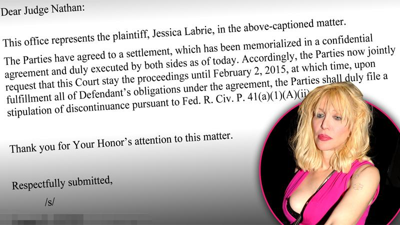 //courtney love settles legal battle former assistant pp sl