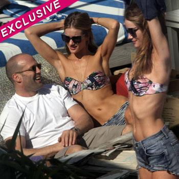 //rosie huntington whiteley skinny bikini jason statham