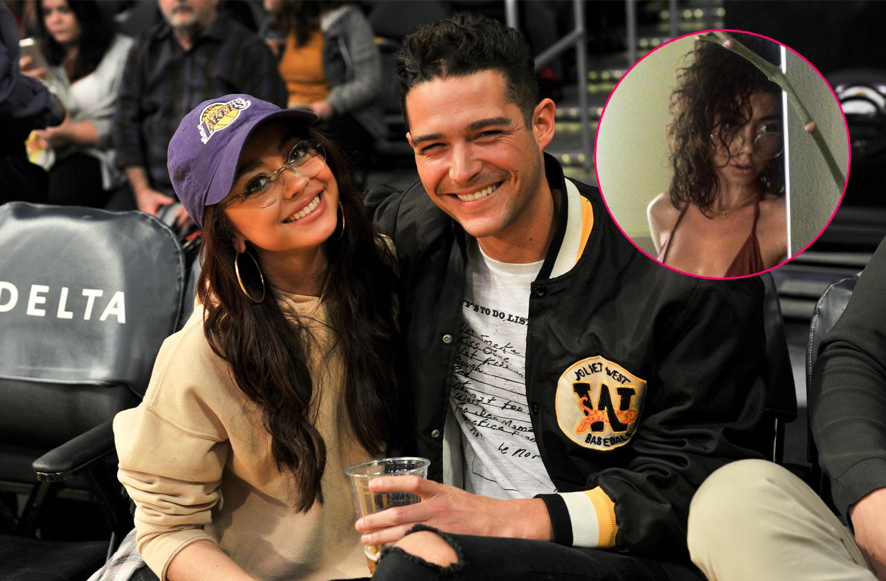 //sarah hyland's boyfriend wells adams defends her scary selfie pp