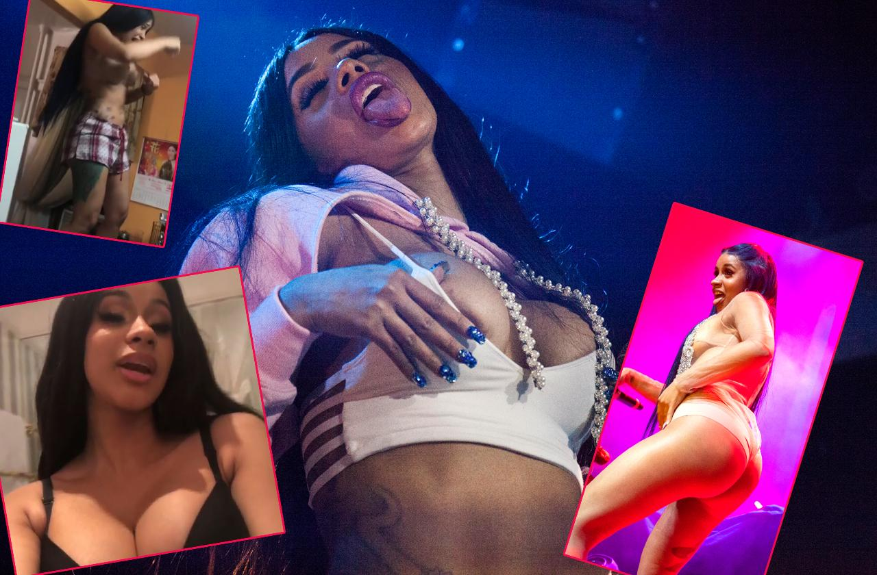 Cardi B nude in videos and photos that leaked baring breasts and butt