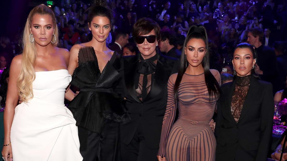 Khloe Kardashian, Kendall Jenner, Kris Jenner, Kim Kardashian and Kourthney Kardashian during the 2018 E! People's Choice Awards held at the Barker Hangar on November 11, 2018