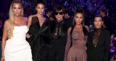Khloe Kardashian, Kendall Jenner, Kris Jenner, Kim Kardashian and Kourthney Kardashian during the 2018 E! People's Choice Awards held at the Barker Hangar on November 11, 2018