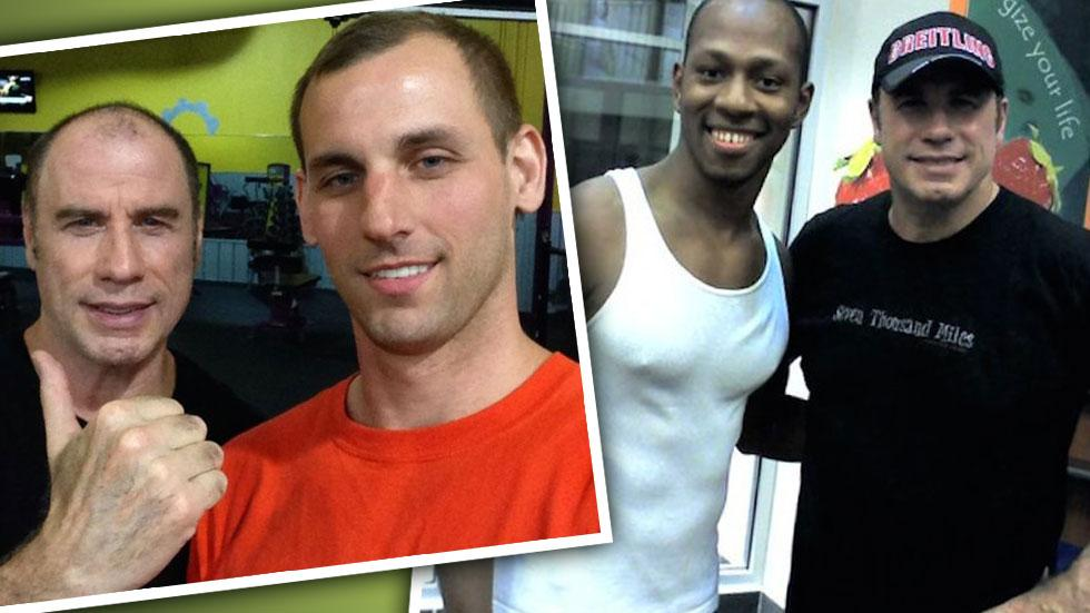 John Travolta Meets Men At The Gym