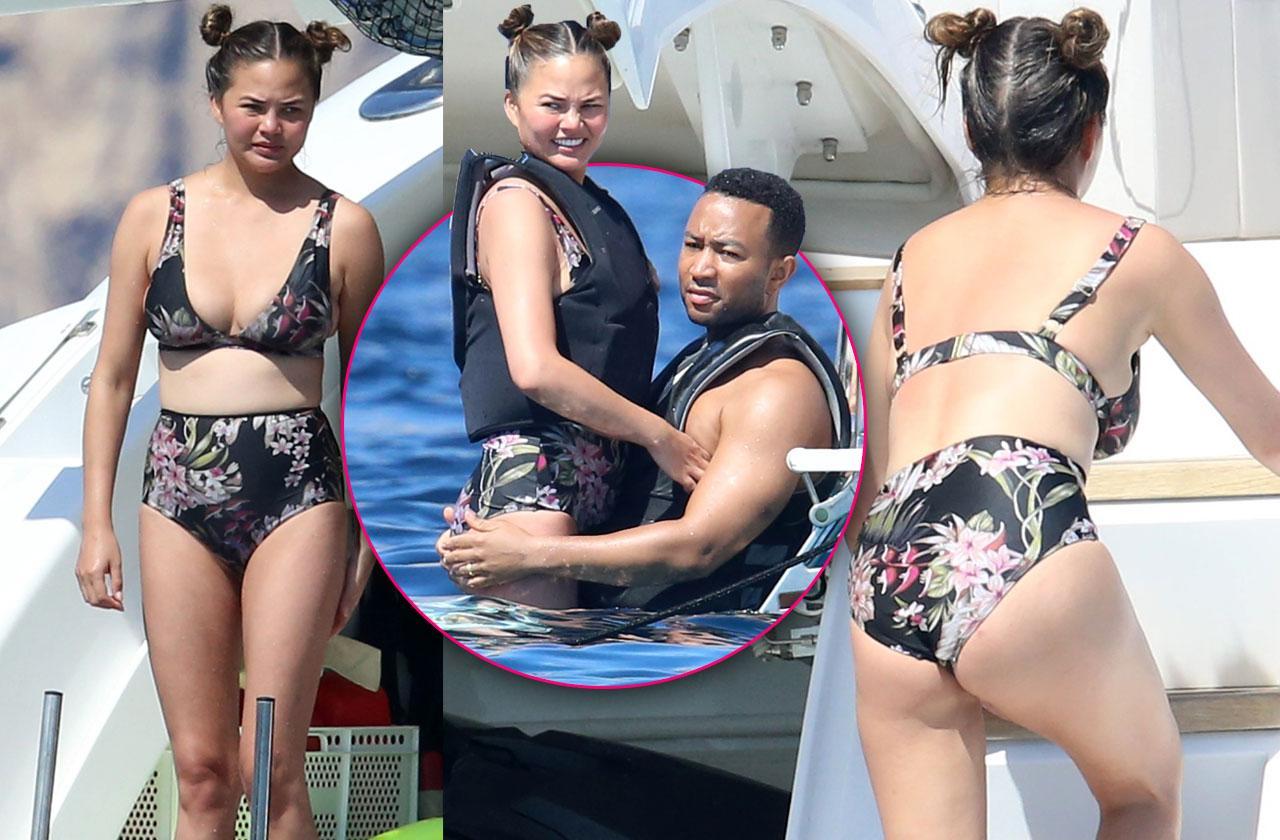 Chrissy Teigen bikini yacht John Legend