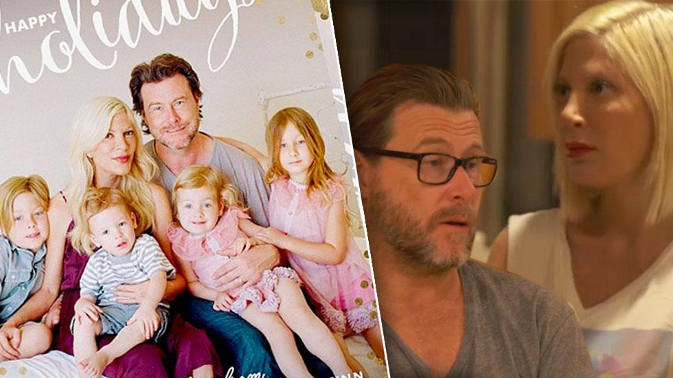 //tori spelling and dean mcdermott and happy holidays card