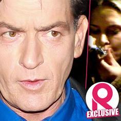 //charlie sheen not happy drug test brooke mueller sq
