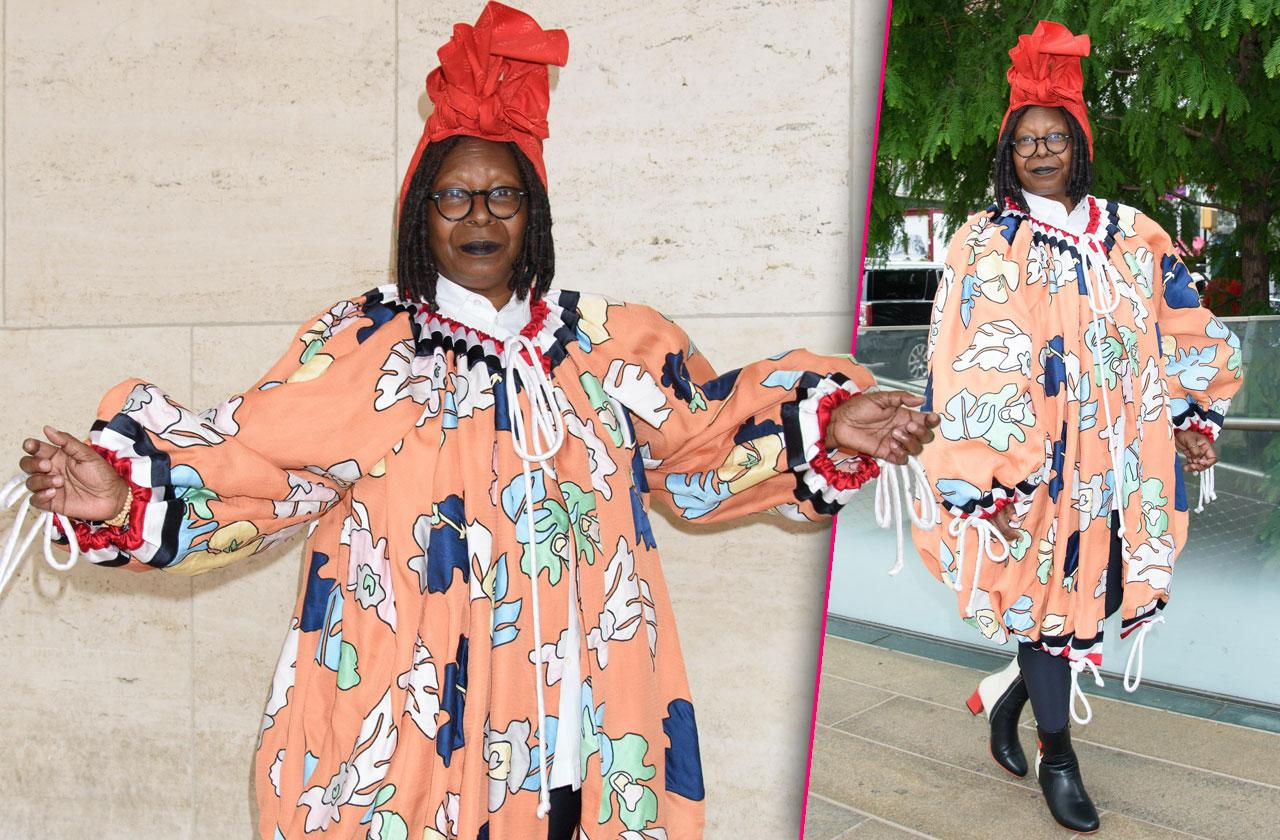 Whoopi Goldberg Crazy Outfit Red Hat New York